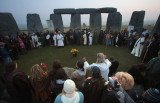 Druids and pagans mark Spring Equinox among Stonehenge's standing stones