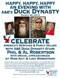 Duck Dynasty's Phil, Miss Kay, Al, and Lisa Robertson will be part of a Denney For Idaho event in Nampa