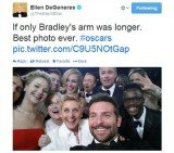 Ellen DeGeneres' Oscars selfie has become the most re-tweeted image in Twitter's history