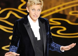 Ellen DeGeneres took full advantage of Jennifer Lawrence's repeated inability to stay upright in her opening monologue at Sunday night's Oscars