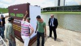 Giant book Patria Amada explaining Brazil's tax rules has been put on display in front of the National Congress in Brasilia