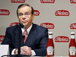 Heinz former CEO William Johnson received $110.5 million for the final eight months of 2013