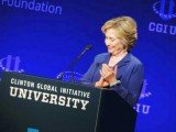 Hillary Clinton speaks at student conference for Clinton Global Initiative University