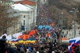 Huge rally is being held in Moscow to oppose Russia's intervention in Ukraine