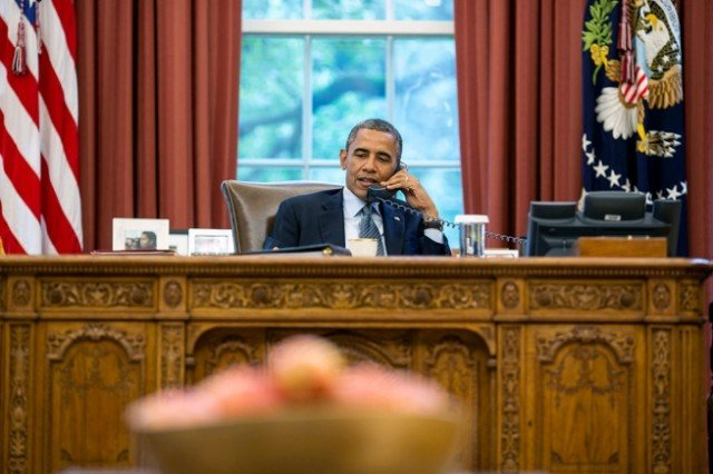 In a 90-minute phone conversation, Barack Obama urged Vladimir Putin to pull forces back to bases in Crimea