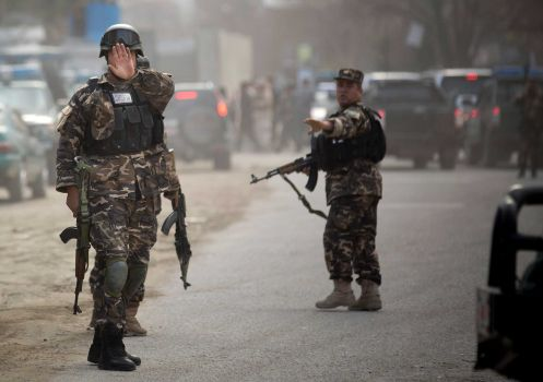 Insurgents attacked the headquarters of the Afghan election commission in Kabul