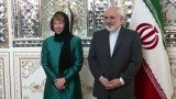 Iran's Foreign Minister Mohammad Javad Zarif and EU foreign policy chief Catherine Ashton