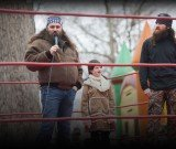 Jase and Willie Robertson rent a full-sized wrestling ring to really show off the Robertson skills for Mia