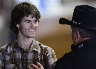 John Luke Robertson attended the annual Southeastern Livestock Exposition Rodeo at the Garrett Coliseum in Montgomery