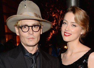Johnny Depp and Amber Heard celebrated their engagement with an intimate party in downtown Los Angeles