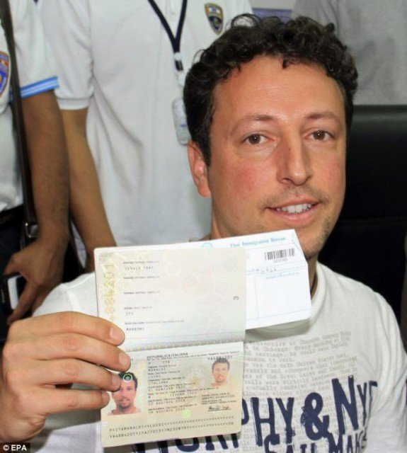 Luigi Maraldi's passport went missing in Thailand last year and was reported shortly thereafter