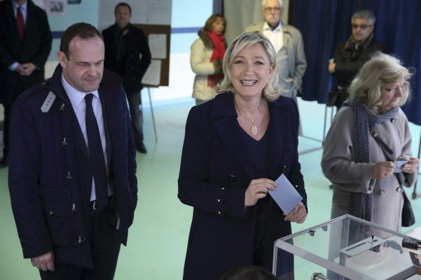 Marine Le Pen's National Front party has made significant gains in local elections, winning an outright majority in Henin-Beaumont on the first round