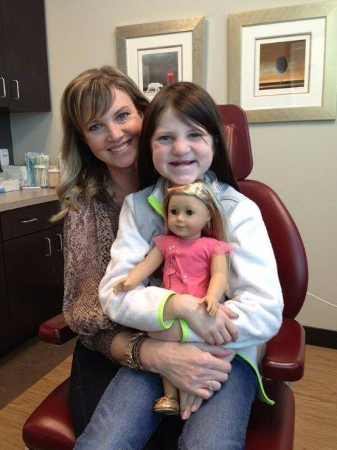Mia Robertson underwent her latest cleft lip and palate surgery in