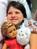 Mia Robertson was born with a facial cleft, and had her first surgery when she was just three months old