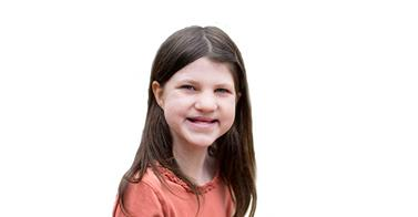 Mia Robertson was born with cleft lip and palate photo