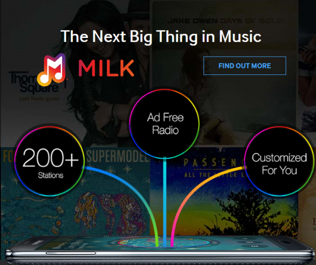 Milk Music includes over 200 radio stations and 13 million songs