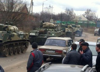 More than 8,000 Russian troops have begun military exercises close to the border with Ukraine