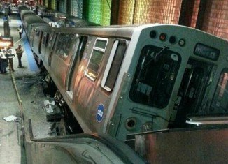 No one suffered life-threatening injuries in the Blue Line derailment at O'Hare International Airport
