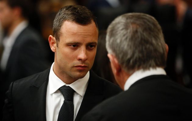 Oscar Pistorius on the fourth day of his murder trial in Pretoria