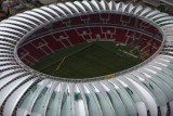Porto Alegre's Beira Rio stadium is nearly ready, but it still needs temporary structures to house the media, sponsors and other requirements by FIFA