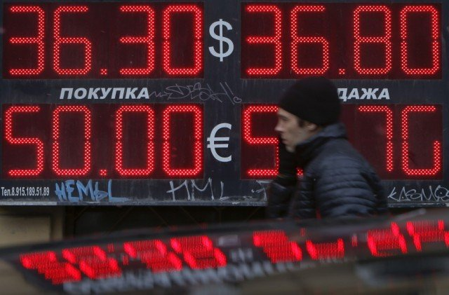Russian stock market fell sharply as investors weighed the impact of western sanctions over Ukraine