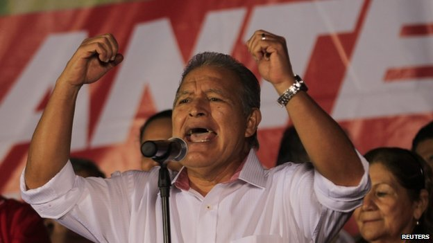 Salvador Sanchez Ceren won 50.11 percent of the votes in the March 9 presidential poll