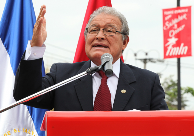 Salvador Sanchez Ceren would be the first ex-rebel to serve as El Salvador's president