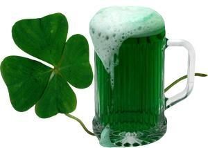 St Patrick's Day green beer