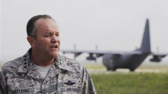 Supreme Allied Commander Europe General Philip Breedlove has issued a warning about the build-up of Russian forces on Ukraine's border