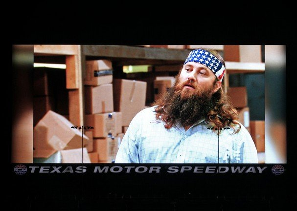 Texas Motor Speedway's Big Hoss TV unveiling included a showing of the newest episode of Duck Dynasty