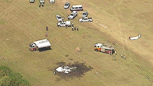 The Cessna 206 hit the ground and burst into flames shortly after take-off on Saturday at Caboolture Airport
