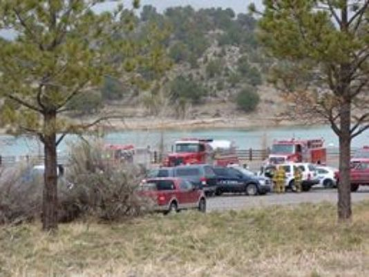 The aircraft went down in Ridgway Reservoir, about 25 miles south of Montrose
