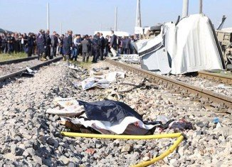 The train crash happened at a level crossing near the Mediterranean port city of Mersin