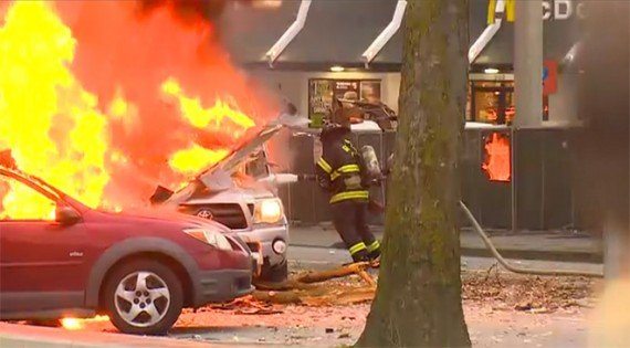 Two people died after a KOMO news helicopter crashed in central Seattle at the foot of the landmark Space Needle