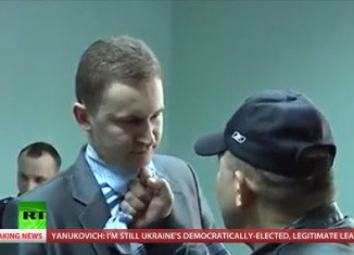 Ukraine nationalist Alexander Muzychko barged into the prosecutor's office and attacked an employee