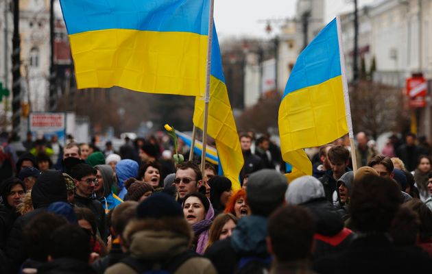 Ukraine would not intervene militarily in Crimea, even though a secession referendum there was a sham