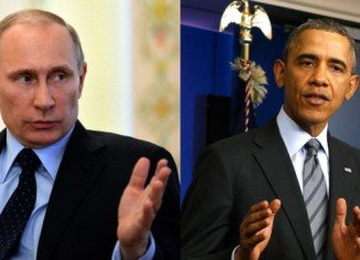 Vladimir Putin has called Barack Obama to discuss the US proposal for a diplomatic solution to the crisis in Ukraine