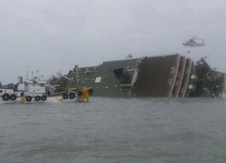 About 300 people remain unaccounted for after a ferry carrying 476 people capsized and sank off South Korea