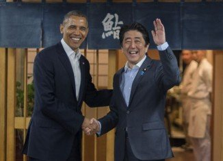 After talks with PM Shinzo Abe, President Barack Obama has reaffirmed his support for Japan in its row over islands with China