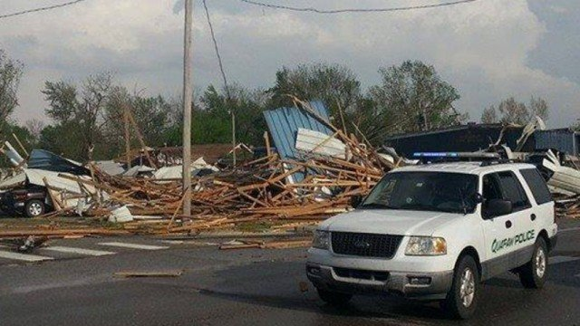 At least 12 people have been killed by tornadoes in Arkansas and Oklahoma as a huge storm system swept across America's midsection