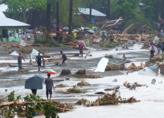 At least 30 people are still missing after flash floods that have killed 12 people and left some 10,000 homeless in the Solomon Islands