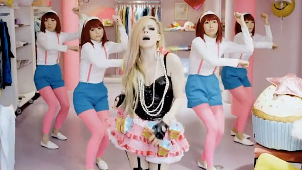 Avril Lavigne has denied her most recent music video for Hello Kitty is racist