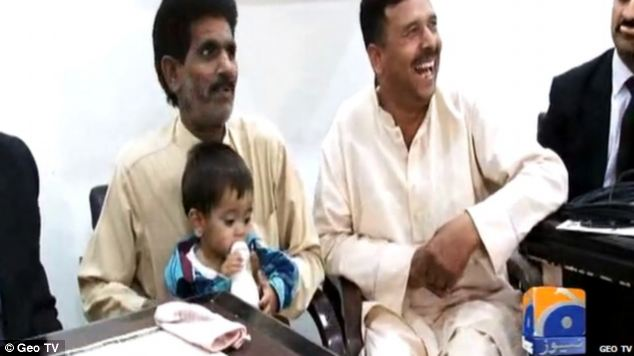 Baby Muhammad Mosa Khan is one of more than 30 people facing charges after a police raid to catch suspected gas thieves in the city of Lahore