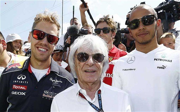 Bernie Ecclestone is accused of giving a 45 million bribe to a German banker to secure the sale of a stake in the F1 business to a company he favored photo