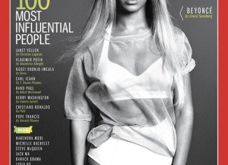 Beyonce features the cover of Time magazine's special 100 most influential people issue in 2014