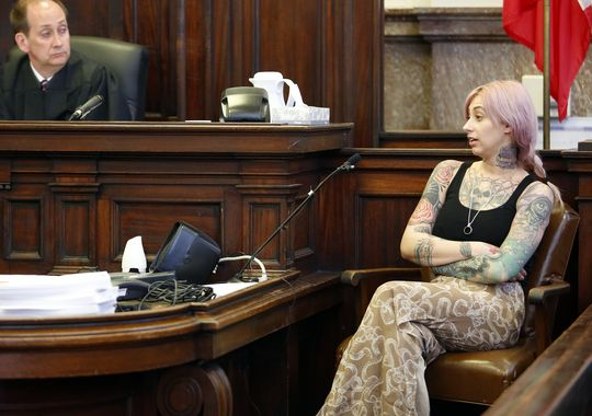 Brenna Gray has testified in court about the death of Paul Gray in May 2010