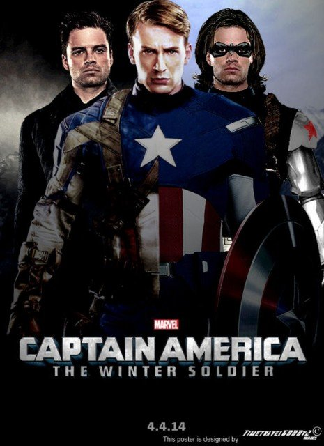 Captain America: The Winter Soldier has topped the US box office for a third week