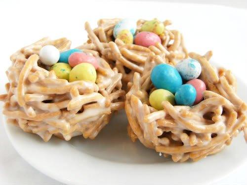 easter recipe: bird's nests