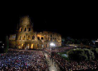 Easter's Way of the Cross procession in Rome has been led by Pope Francis, with prayers for the poor and the abandoned