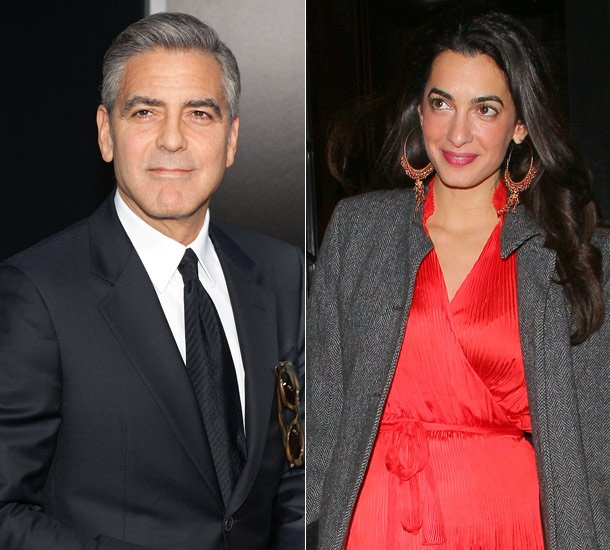 George clooney recently popped the question to girlfriend amal